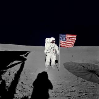 세계에서 6번째로 달 표면을 밟은 에드가 미첼. - NASA 제공